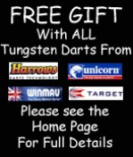 Free Gift with Harrows Target Winmau Unicorn Tungsten Darts