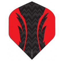 Archers X 100 Micron Pro Flights Black Red
