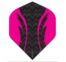 Archers X 100 Micron Pro Flights Black Pink
