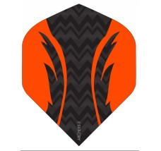 Archers X 100 Micron Pro Flights Black Orange