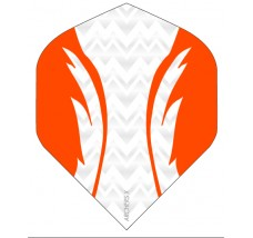 Archers X 100 Micron Pro Flights White Orange