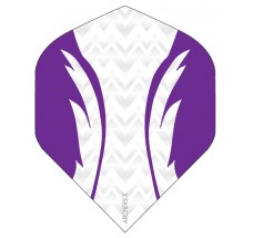 Archers X 100 Micron Pro Flights White Purple