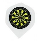 White Dart Board Metro Flight - Dart