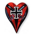 Red Black Cross Heart Flights - Flight