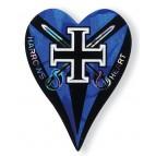 Blue Black Cross Heart Flights - Flight