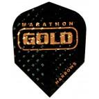 Standard Black Marathon Gold Darts Flight - Flight