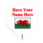 Personalised Std White N TNR Wales (10 Sets)
