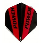 Power Max STD Solid Red/Black Darts Flight