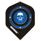 Win-6900-112 Mega Std Skull in Blue Circle - Flight