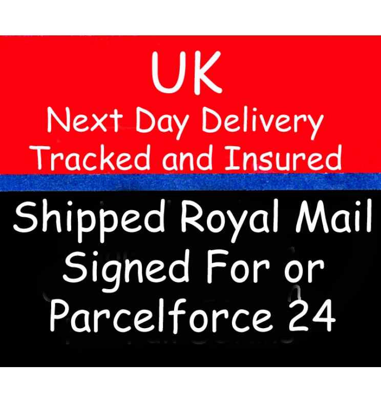 UK Next Day Delivery* Order before 10pm to receive your order tomorrow. Orders made after 10pm will be delivered the day after (excludes Sundays & Bank Holidays).